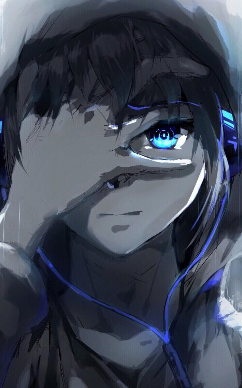 Free Download Anime Boy Hoodie Blue Eyes Headphones Painting Dengan Gambar 1080x1920 For Your Desktop Mobile Tablet Explore 44 Anime Guy With Hoodie Wallpapers Anime Guy With Hoodie Wallpapers