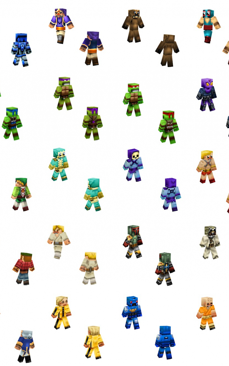 Xpx Wallpaper Minecraft Skins WallpaperSafari - Minecraft skins fur tablet