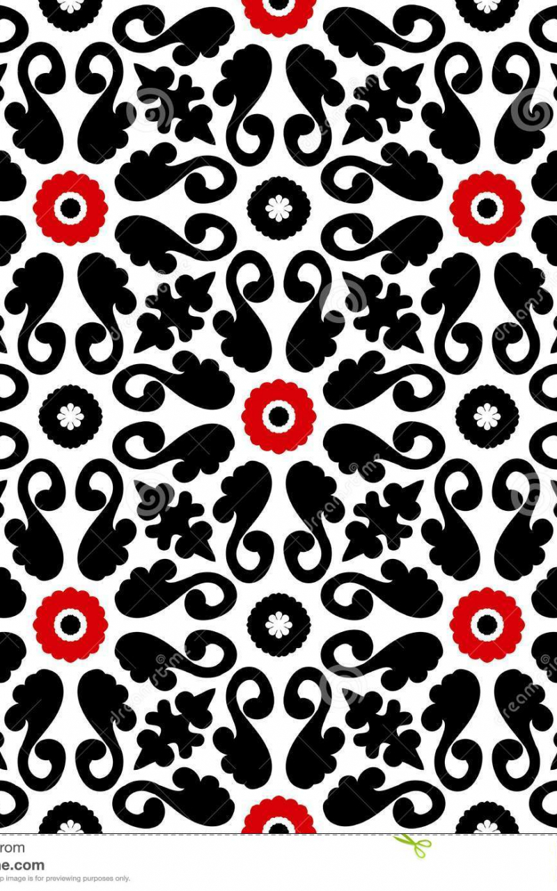 Free Download Bright Floral Wallpaper With Bold Floral Ornament