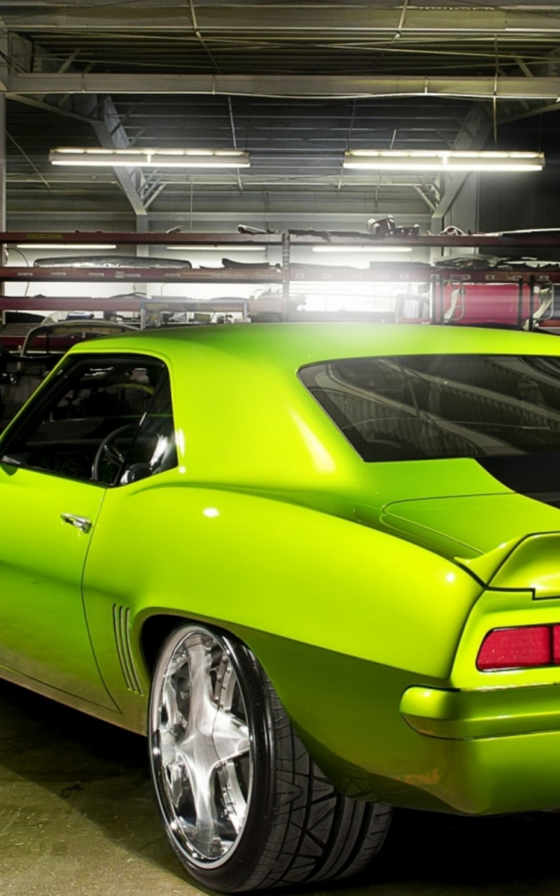 Free Download Green Chevrolet Coupe Old Car Wallpaper