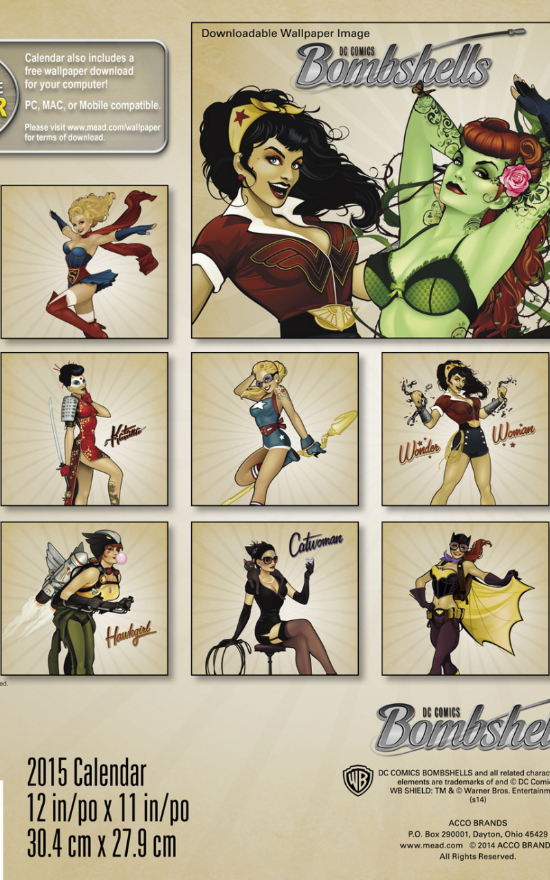 Free Download Dc Comics Bombshells 2015 Wall Calendar 1500x1375 For Your Desktop Mobile Tablet Explore 50 Dc Bombshells Wallpaper High Resolution Wallpaper Washington Dc Dc Comic Wallpapers