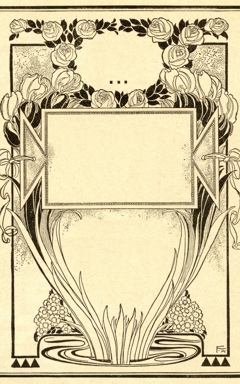Art Nouveau Wallpaper Border