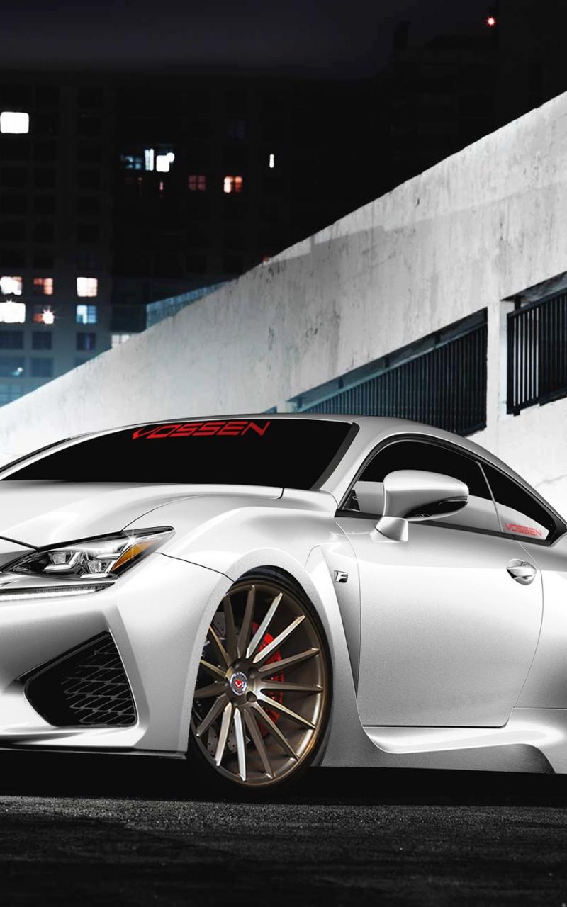 Free Download Lexus Rc F Voiture Blanche Vue De Face Fonds