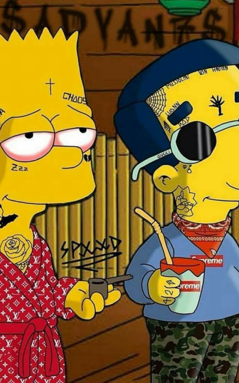 Free Download Supreme Bart Simpson Wallpapers Top Supreme