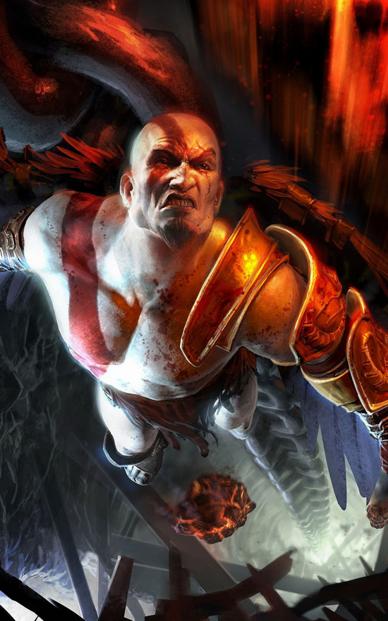 Free Download Kratos Game God Of War Iphone 6s Wallpapers Hd