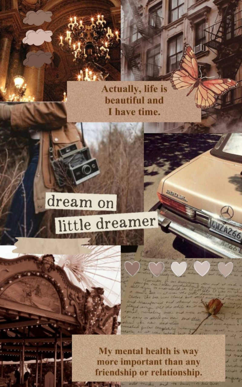 Free download Brown Aesthetic collage Wallpaper Aesthetic iphone ...