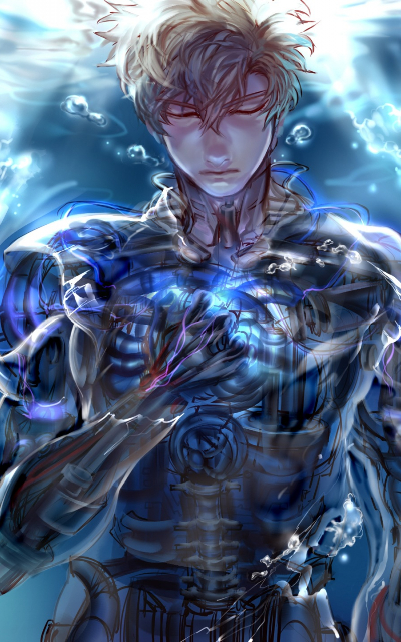 Free Download Anime One Punch Man Genos Wallpaper 2560x1440 For