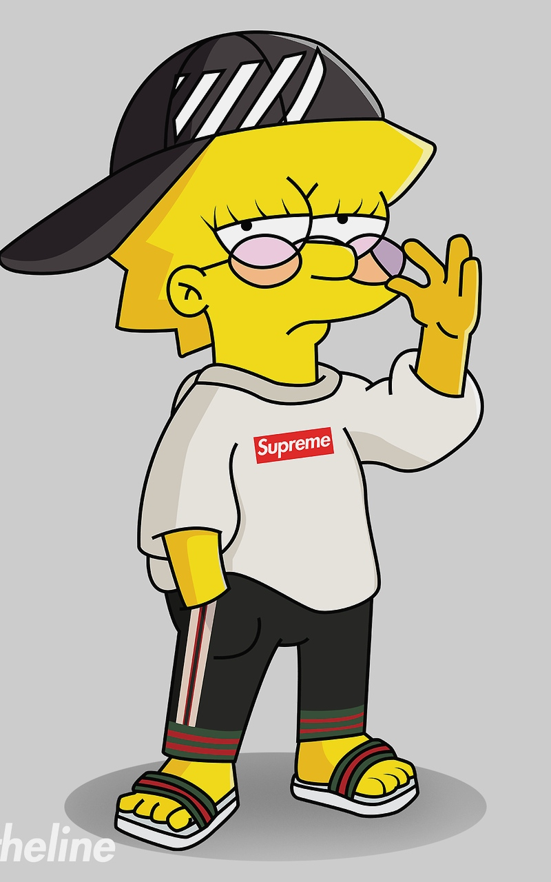 Free Download Supreme Bape Boy Gangsta Cartoons Wallpaper